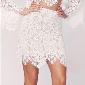 Lace For Love & Lemons White Skirt